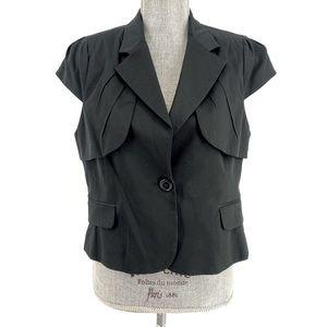 BCBG MAXAZRIA Maddy Cap Sleeve Blazer Large NWT